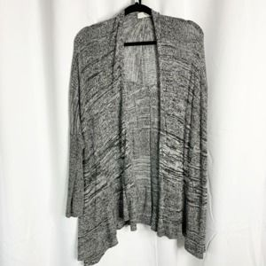 Sparrow gray linen knit open cardigan M
